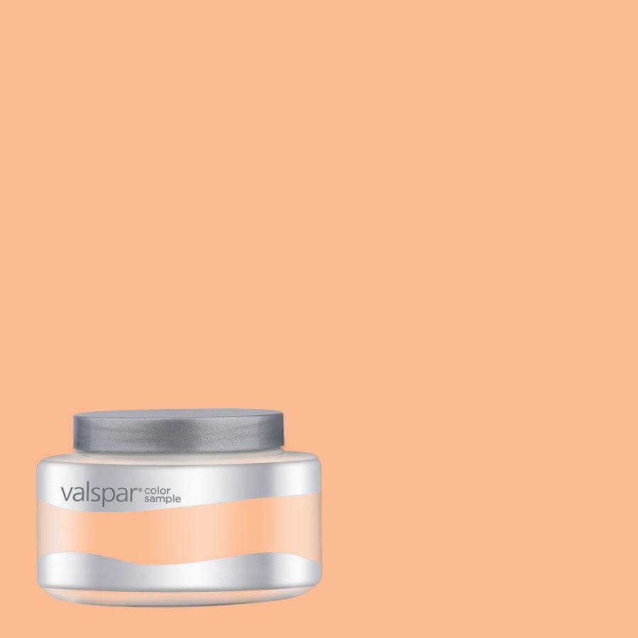 Shop Valspar Pantone Apricot Ice Interior Satin Paint Sample At Lowes Com
