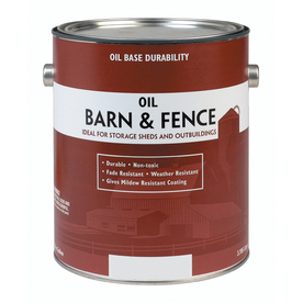 Shop Valspar Barn And Fence Red Gloss Oil Based Exterior Paint Actual Net Contents 128 Fl Oz