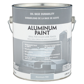 Valspar Gallon Exterior Satin Aluminum Paint and Primer in One