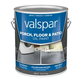 Shop Valspar Exterior Gloss Porch And Floor Dark Gray Oil Base Paint Actual Net Contents 128