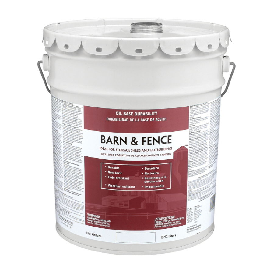 Shop valspar 5 gallon size container exterior gloss red for Exterior paint gallon