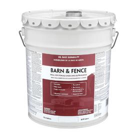 Shop Valspar Barn And Fence White Satin Oil Based Exterior Paint Actual Net Contents 640 Fl Oz