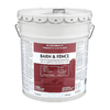 Valspar Barn and Fence White Satin Oil-Based Exterior Paint (Actual Net Contents: 640-fl oz)