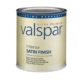Valspar Ultra Premium 1-Quart Interior Satin White Latex-Base Paint