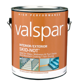 Shop Valspar 1 Gallon Interior Exterior Porch And Floor Clear Latex Base Paint And Primer In One