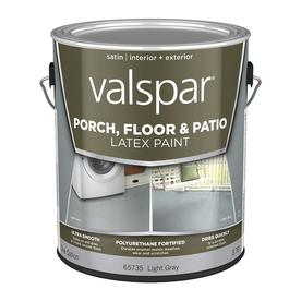 Valspar Gallon Interior/Exterior Satin Porch and Floor Light Gray Paint