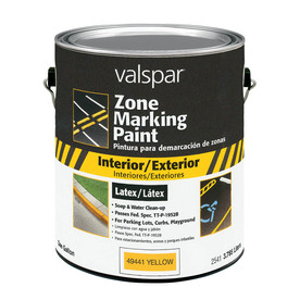 Valspar Gallon Interior/Exterior Flat Yellow Paint