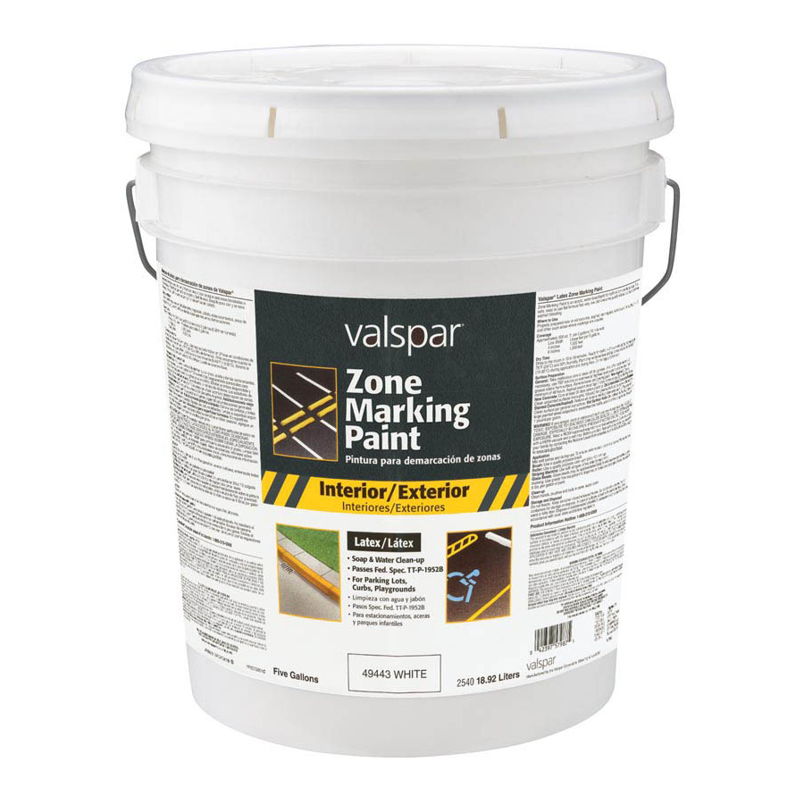 Shop Valspar 5 Gallon Size Container Exterior Flat Pre Tinted White Latex Base Paint And Primer