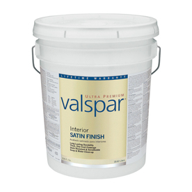 Valspar Ultra Premium 5-Gallon Interior Satin Ultra White Latex-Base Paint