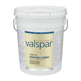 Valspar Ultra Premium 5-Gallon Interior Eggshell Ultra White Paint