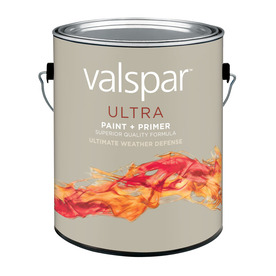 Valspar White Flat Latex Exterior Paint (Actual Net Contents: 128-fl oz)
