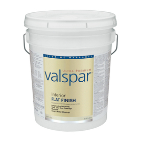 Valspar Ultra Premium 5-Gallon Interior Flat Ultra White Paint