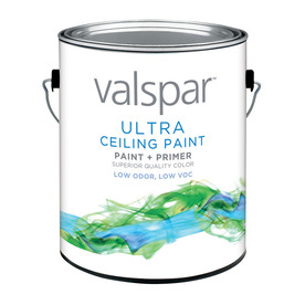 Valspar White Flat Latex Interior Paint and Primer in One (Actual Net Contents: 128-fl oz)