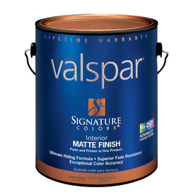 Valspar Signature Colors Gallon Interior Matte Tintable Paint and Primer in One