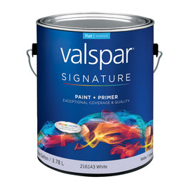 Valspar Signature Signature White Flat Latex Interior Paint and Primer in One (Actual Net Contents: 128-fl oz)