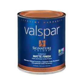 Shop Valspar Signature Colors White Matte Latex Interior Paint And Primer In One Actual Net