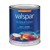 Valspar Signature Quart Interior Semi-Gloss White Paint and Primer in One