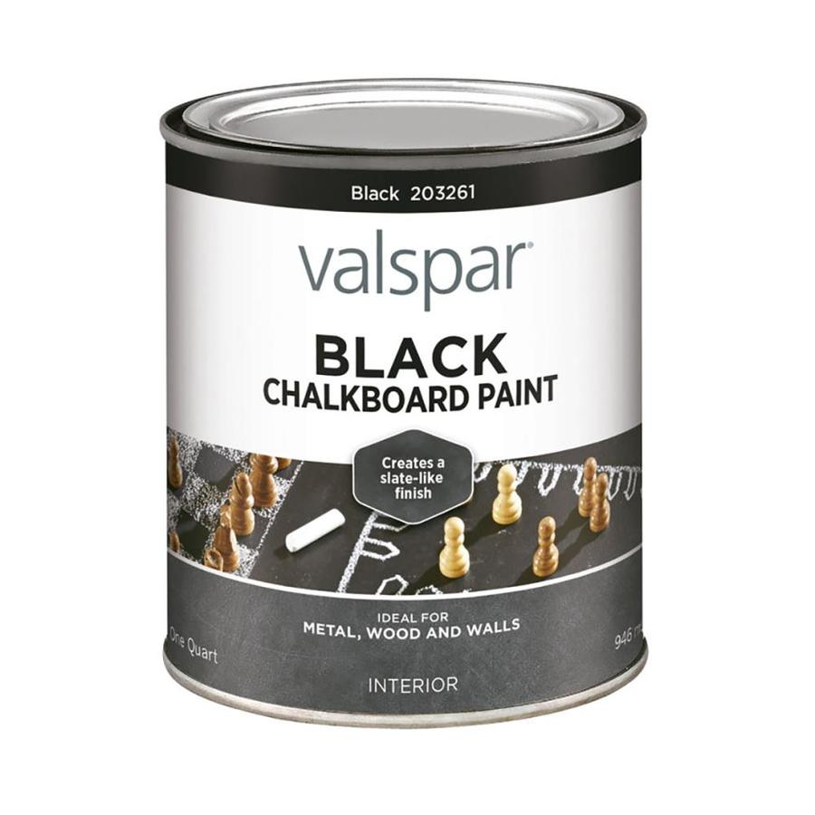 Shop valspar quart size container interior matte black for Black interior paint