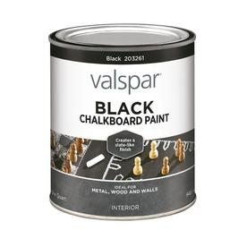 Valspar Quart Interior Matte Black Chalkboard Paint