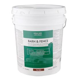 Valspar 5-Gallon Exterior Flat Red Paint and Primer in One