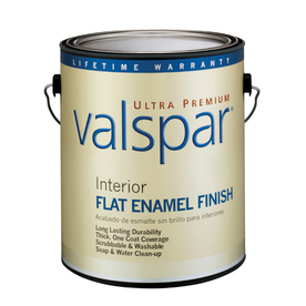 Valspar Ultra Premium 1-Gallon Interior Flat Enamel Ultra White Latex-Base Paint