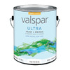 Valspar Ultra White Gloss Latex Interior/Exterior Paint and Primer in One (Actual Net Contents: 128-fl oz)