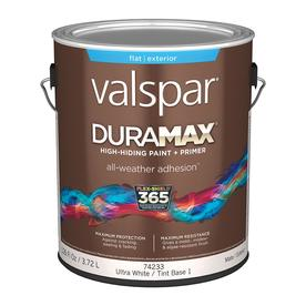 Valspar Duramax Duramax White Flat Latex Exterior Paint (Actual Net Contents: 126-fl oz)