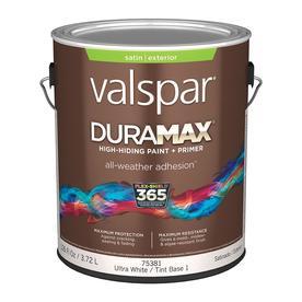 Shop Valspar Duramax Duramax White Satin Latex Exterior Paint Actual Net Contents 126 Fl Oz