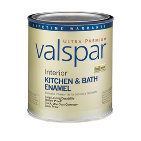 Valspar Ultra Premium 1-Quart Interior Flat Enamel Kitchen and Bath Ultra White Latex-Base Paint