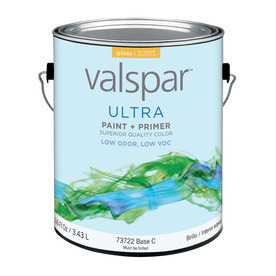 Valspar Ultra Gallon Size Container Interior Gloss Tintable White Latex-Base Paint and Primer in One (Actual Net Contents: 116-fl oz)