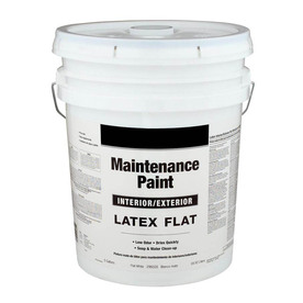 Valspar 5 Gallon Size Container Interior Flat White Latex-Base Paint (Actual Net Contents: 640-fl oz)