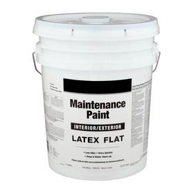 Shop Valspar 5 Gallon Size Container Interior Flat White Latex Base Paint Actual Net Contents