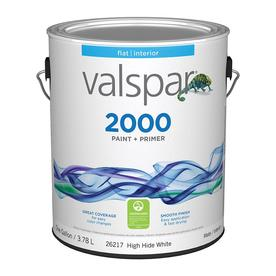Valspar Contractor Finishes 2000 Ultra 2000 White Flat Latex Interior Paint (Actual Net Contents: 128-fl oz)
