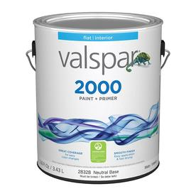 Valspar Contractor Finishes 2000 Ultra 2000 White Flat Latex Interior Paint (Actual Net Contents: 116-fl oz)