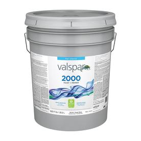 Valspar Contractor Finishes 2000 Ultra 2000 White Flat Latex Interior Paint (Actual Net Contents: 620-fl oz)