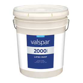 Valspar Contractor Finishes 2000 Pro 2000 5 Gallon Size Container Interior Flat Tintable White Latex-Base Paint (Actual Net Contents: 600-fl oz)