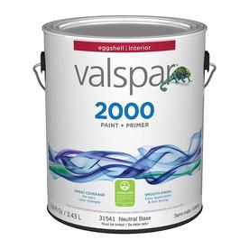 Valspar Contractor Finishes 2000 Ultra 2000 White Eggshell Latex Interior Paint (Actual Net Contents: 116-fl oz)