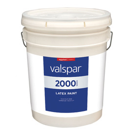 Valspar Contractor Finishes 2000 4.68-Gallon Interior Eggshell White Paint