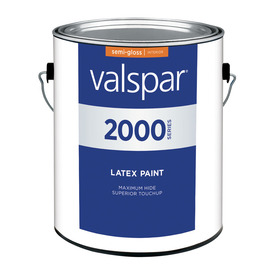 Valspar Contractor Finishes 2000 3.75-Quart Interior Semi-Gloss White Paint