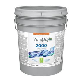 Valspar Contractor Finishes 2000 5-Gallon Interior Semi-Gloss White Paint