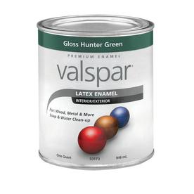 Shop Valspar Hunter Green Gloss Latex Interior Exterior Paint Actual Net Contents 32 Fl Oz At
