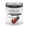 Valspar Black Gloss Latex Interior/Exterior Paint (Actual Net Contents: 32-fl oz)
