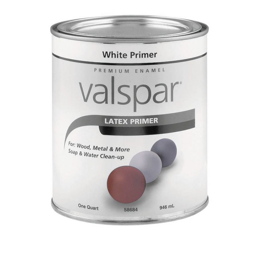 White Latex Paint : Shop valspar quart size container exterior flat enamel