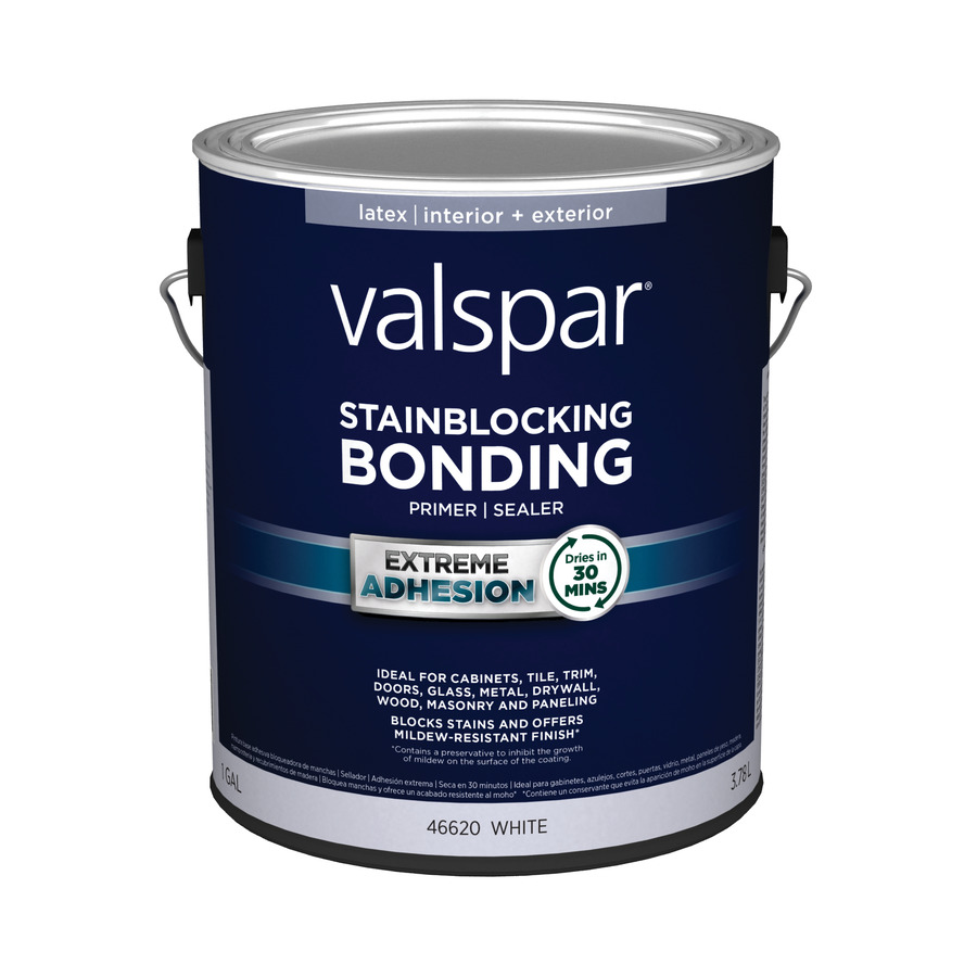 Shop valspar 1 gallon interior latex primer at for Best bonding primer for kitchen cabinets
