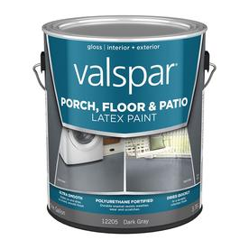 Valspar Gallon Interior/Exterior Satin Porch and Floor Dark Gray Paint