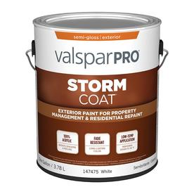 Valspar Storm Coat White Semi-Gloss Latex Exterior Paint (Actual Net Contents: 128-fl oz)