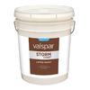 Valspar Storm Coat White Flat Latex Exterior Paint (Actual Net Contents: 640-fl oz)