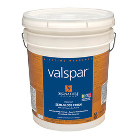 Valspar Signature Colors 5-Gallon Interior Semi-Gloss Base 1 Latex-Base Paint and Primer in One