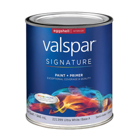 Valspar Signature Quart Interior Eggshell Tintable Paint and Primer in One