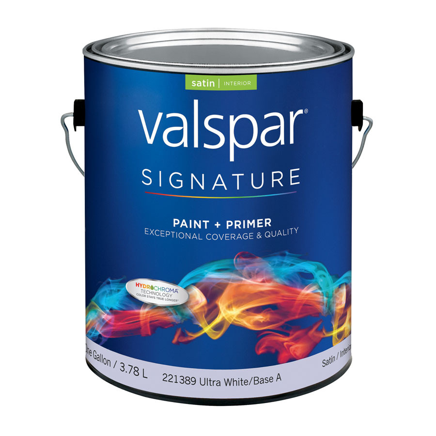 Shop Valspar Signature Signature Gallon Size Container Interior Satin Tintable White Latex Base